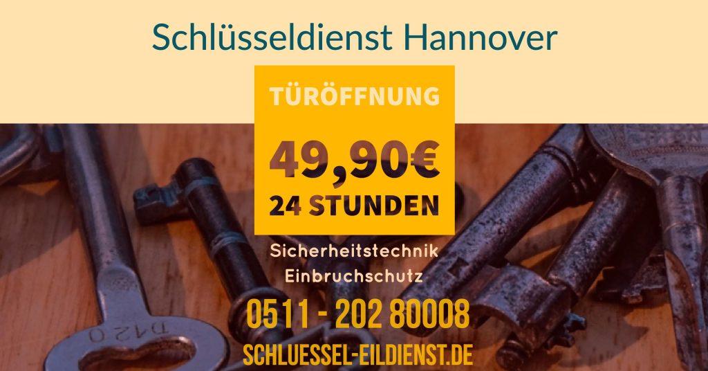 Türöffnung Festpreis Schlüsseldienst Hannover und Region